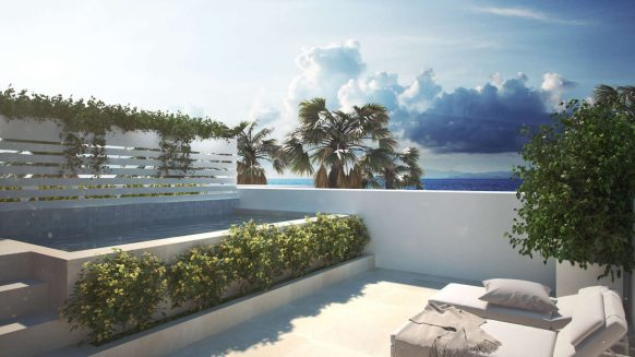 New luxury townhouse with 4 bedrooms and roof top solarium in La Valvega de La Cala