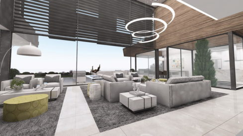 Signature homes Collection_modern 4 bedroom villa for sale Benahavis_Living room_Realista Quality Properties Marbella