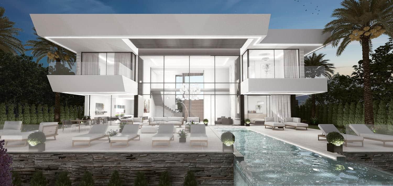 New modern villa for sale in La Alqueria Benahavis with spectaculair ...