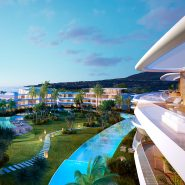 The Edge Estepona_front line beach new development_At night_Realista Quality Properties Marbella