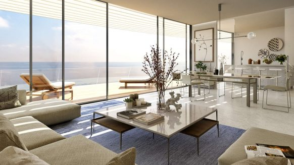 The Edge Estepona_front line beach new development_Ground floor livingroom_Realista Quality Properties Marbella
