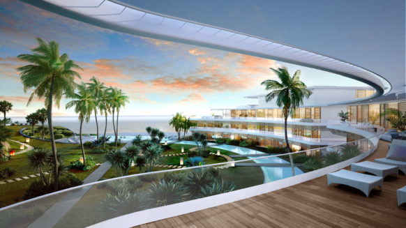 The Edge Estepona new build frontline beach apartment for sale