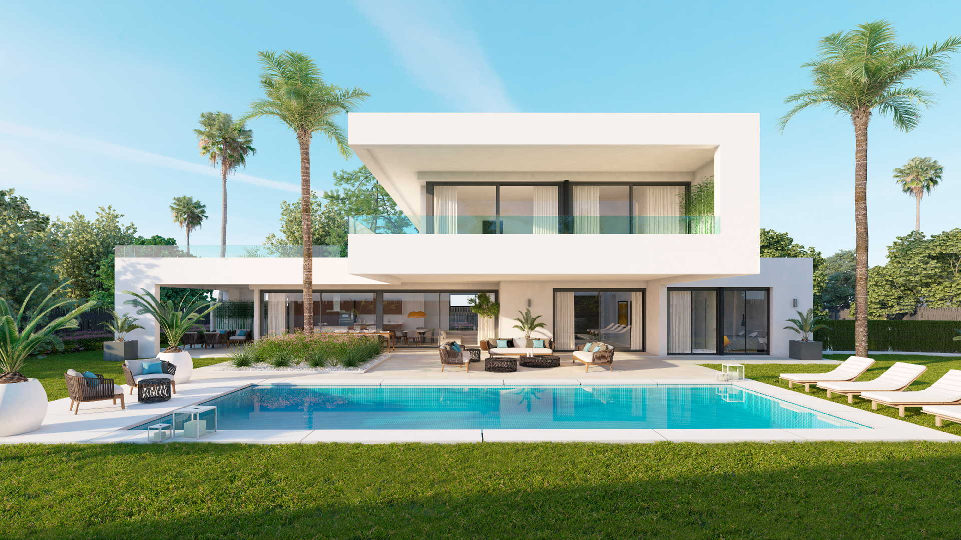Luxury Home Floor Plans Modern Villa Los Olivos Nueva Andalucia Marbella For Sale