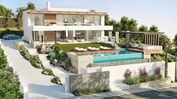 New modern Villa La Alqueria Benahavis for sale_Realista Quality Properties Marbella 1