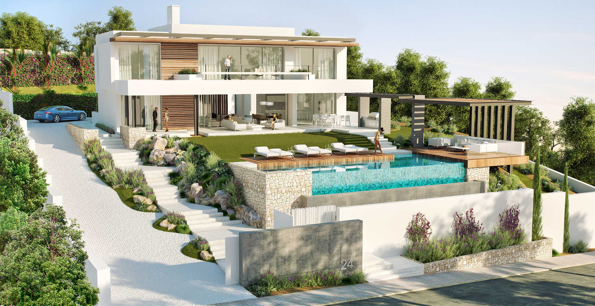 New contemporary villa for sale capanes la alqueria for Sale moderne