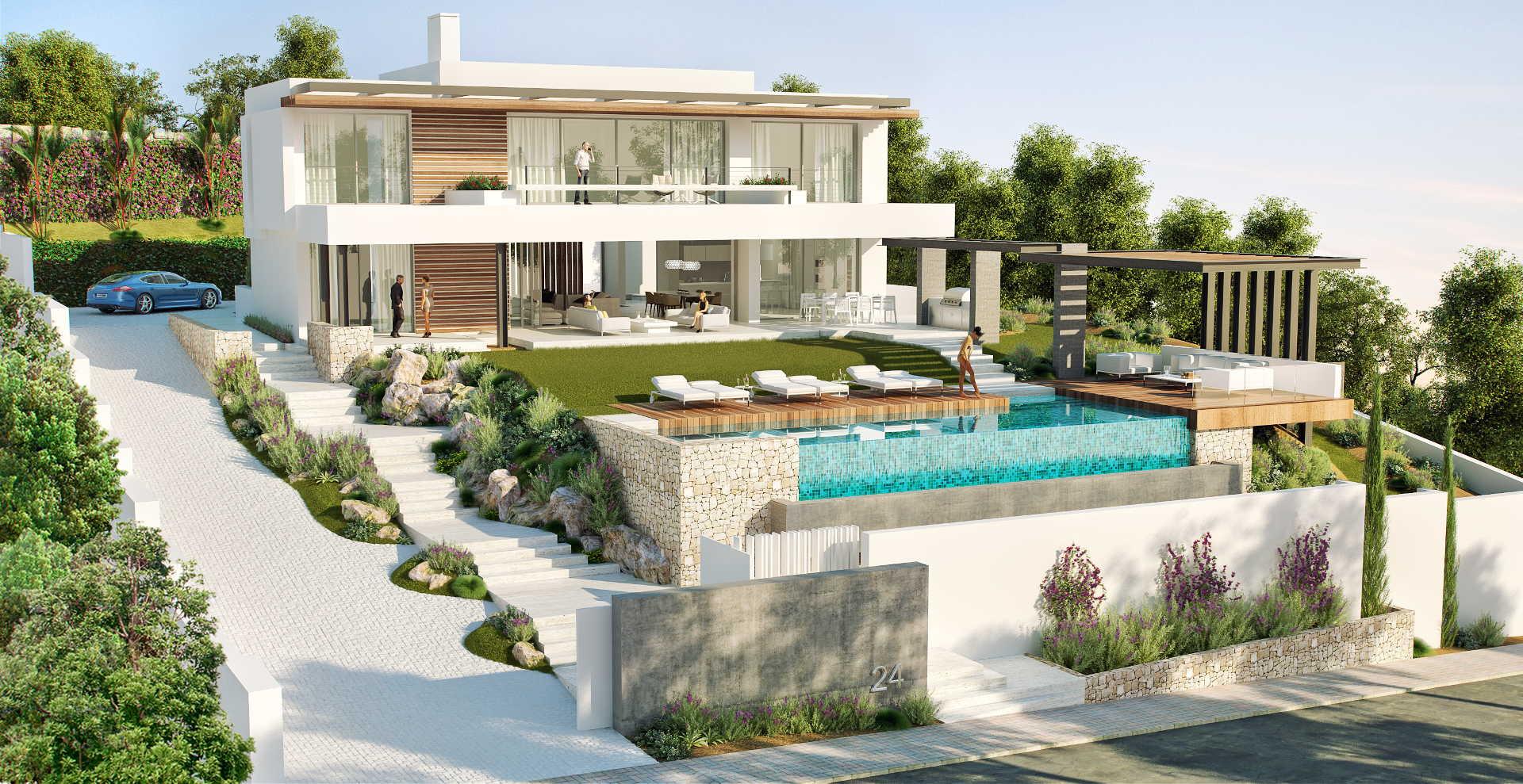 New four bedroom contemporary villa for sale in Capanes Sur, La Alqueria Atalaya Benahavis