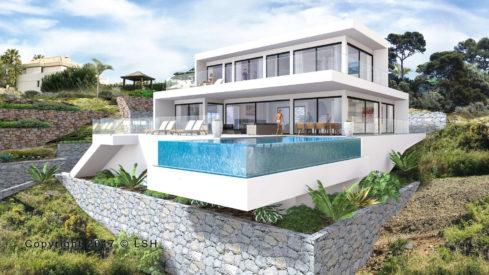 New modern Villa Los Flamingos Golf Resort Benahavis for sale_Realista Quality Properties Marbella