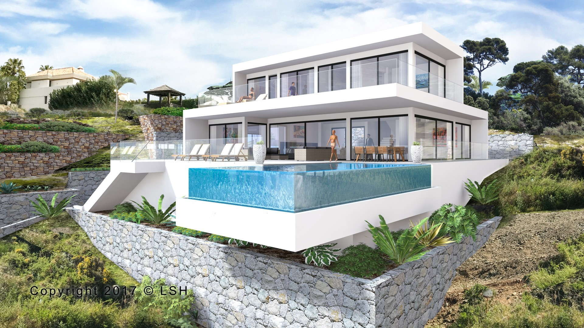 New modern villa in los flamingos golf resort benahavis for Villa concept construction vedene