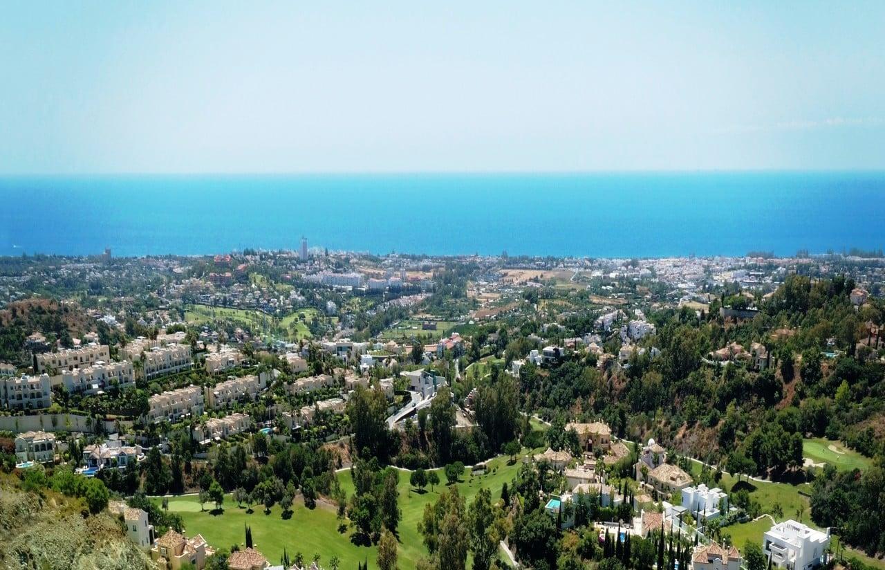 New Alborada Homes Marbella 3 bedroom penthouse for sale golf and sea views in Benahavis