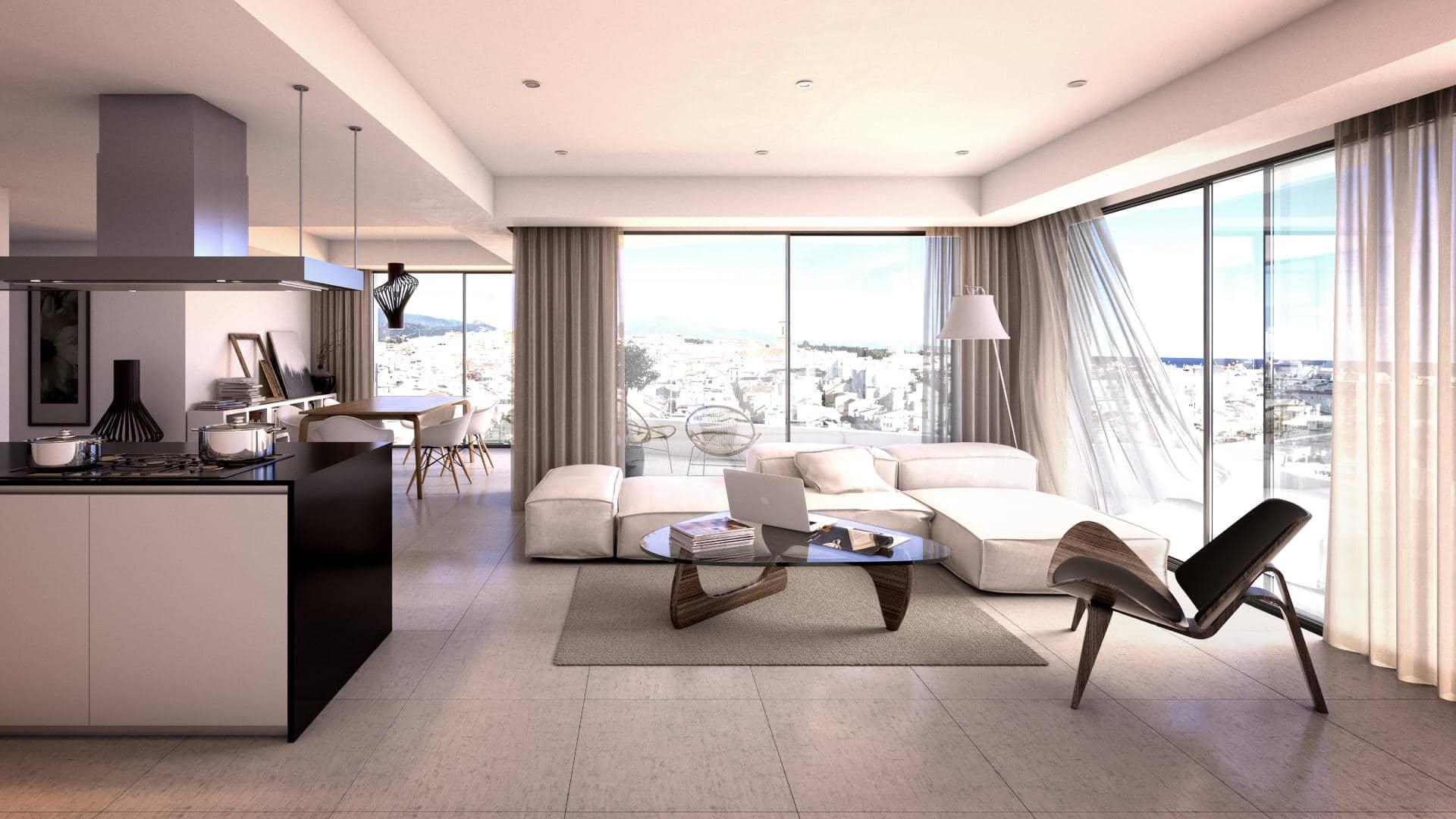 City centre apartment Estepona_for sale_Residential Infinity Estepona_Living room_ Realista Quality Properties Marbella