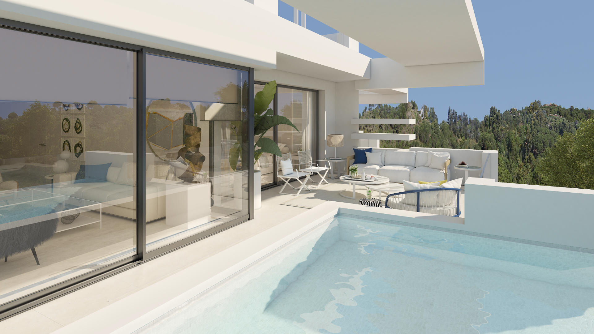 La Meridiana Suites apartment for sale with private pool Marbella Golden Mile