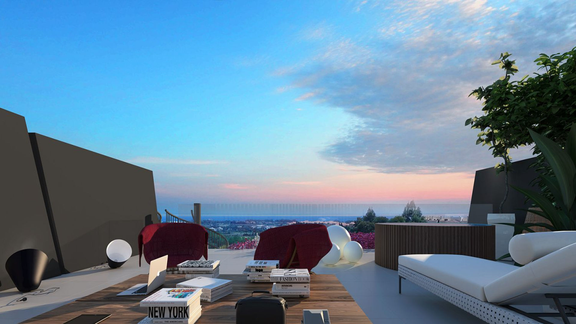 Estepona new penthouse for sale with large roof terrace near Marbella
