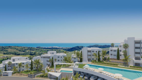Mirador de Estepona Golf ground floor sea view apartment