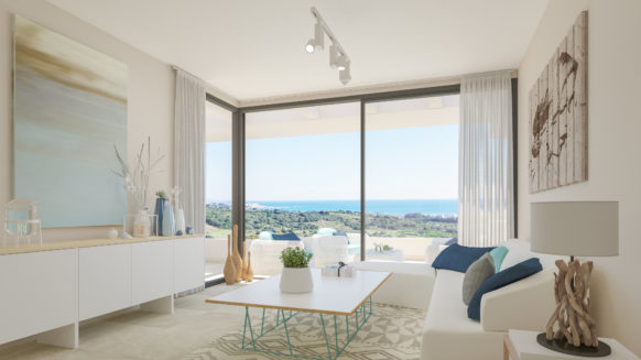 Mirador de Estepona Golf new build apartment with sea views for sale