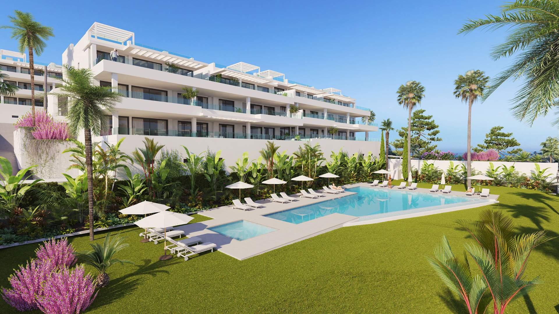 New development Las Olas Estepona ground floor apartment for sale