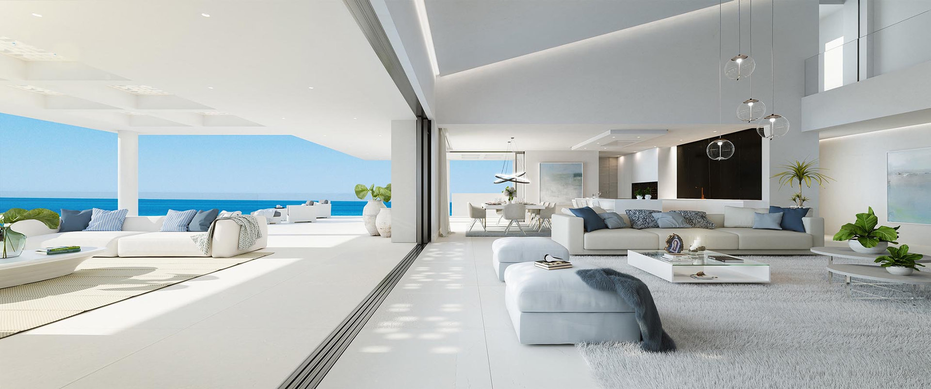 Front line beach Penthouse for sale Emare Estepona with endless sea views