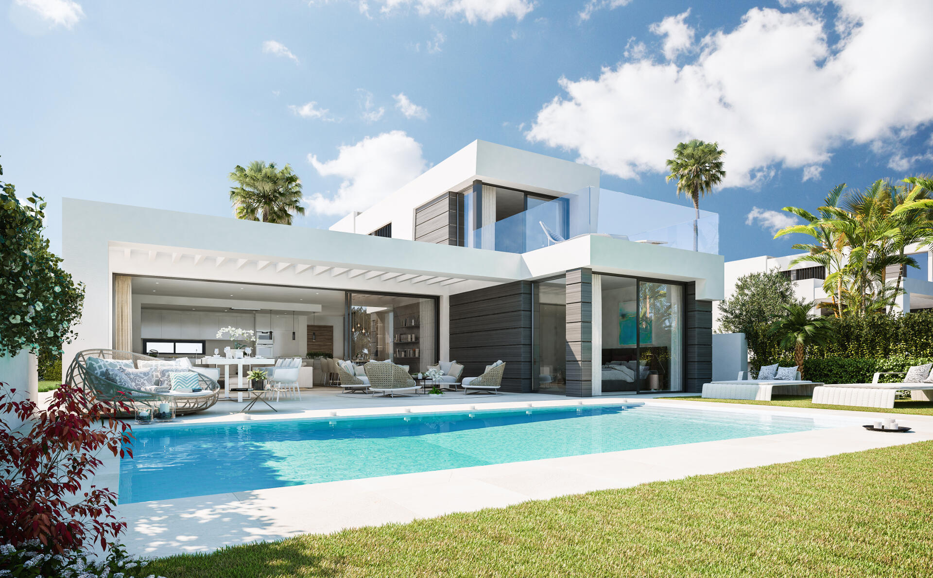 Caboroyale new modern villa for sale in marbella realista - Villa de vacances exotiques island views ...