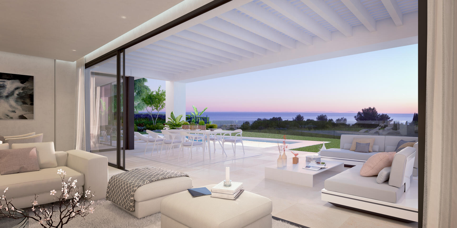 Caboroyale new one level villa with sea views for sale in East Marbella