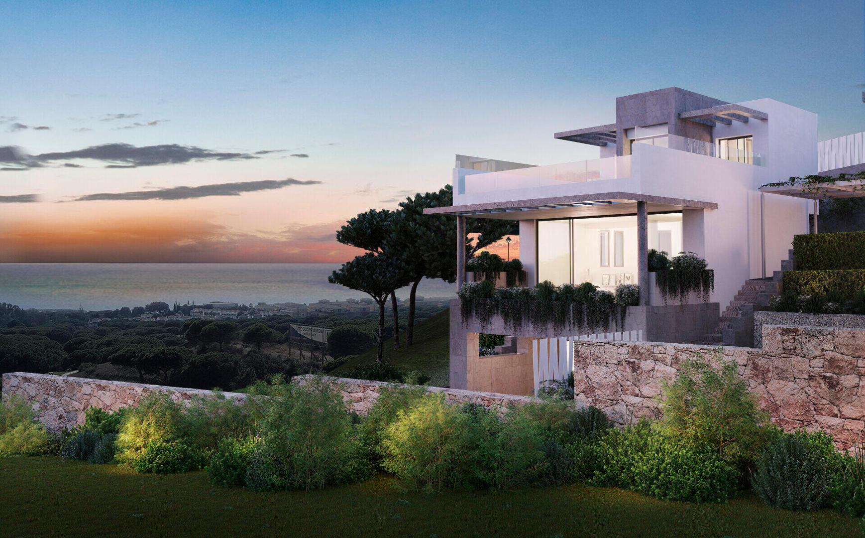 Townhouse for sale with private pool and sea views in Cabopino Marbella