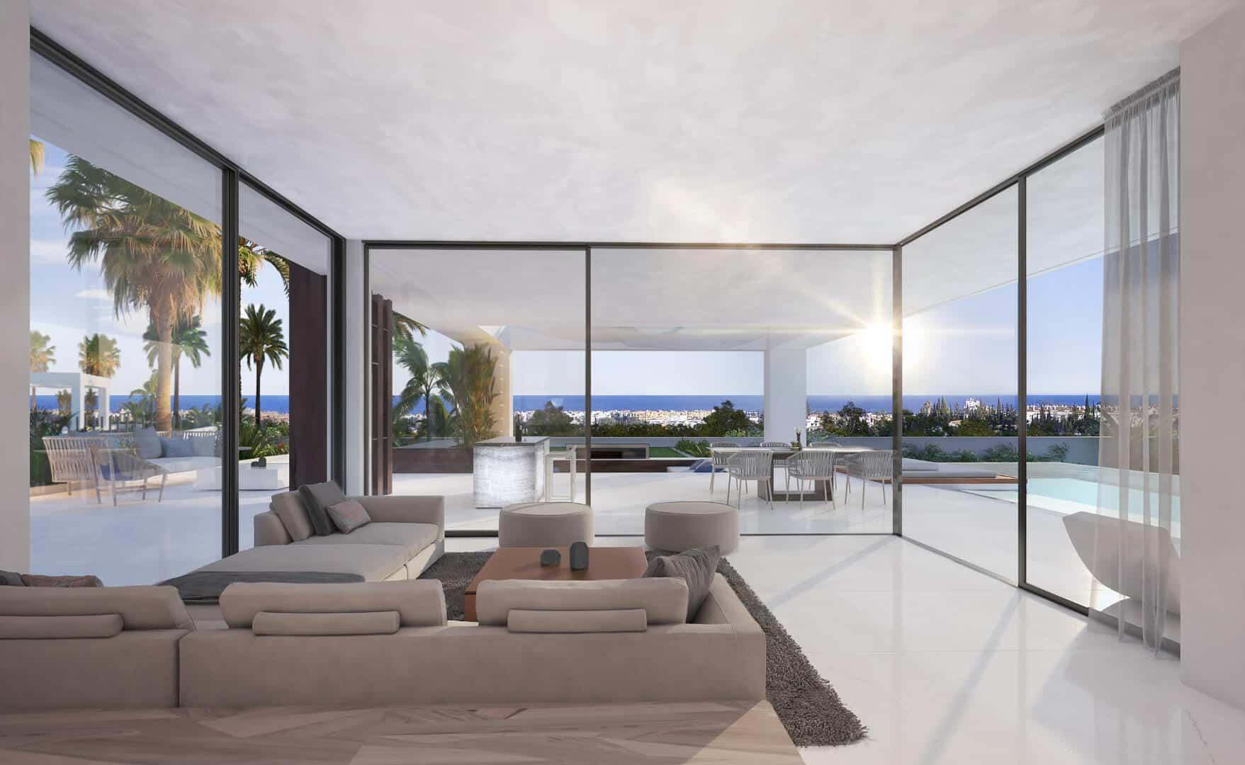 Velvet new development of villas with Sea Views in Cancelada Estepona