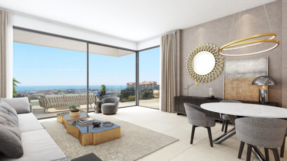 Aqualina Residences Benahavis new duplex penthouse for sale with private plunge pool