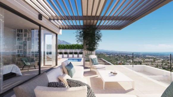 New 4 bedroom duplex penthouse for sale with private plunge pool in Aqualina Residences Benahavis