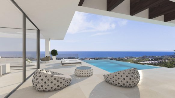 THE VIEW 5 bedroom new luxury Villa with panoramic sea views in Estepona