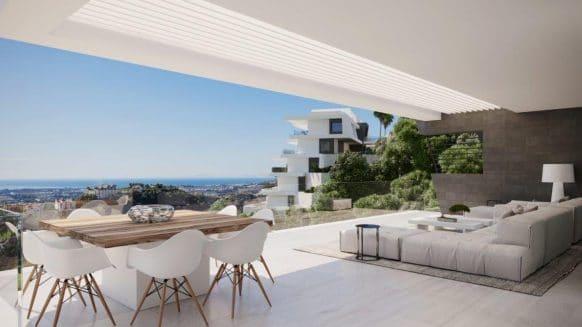 Luxury BYU Hills Apartment with panoramic sea views in boutique development Benahavis – Marbella