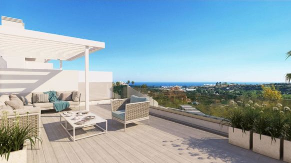 New Penthouse with open sea views in Oceana Views Estepona next to The Famous Los Flamingos Golf Rersort