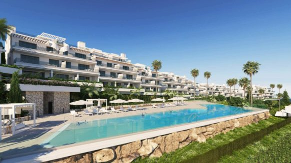 Modern Two Bedroom Apartment in Oceana Views Apartments with open Sea Views in Estepona