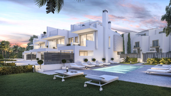New Build Beach Home corner unit at walking distance to the Marina and Town Center of Estepona