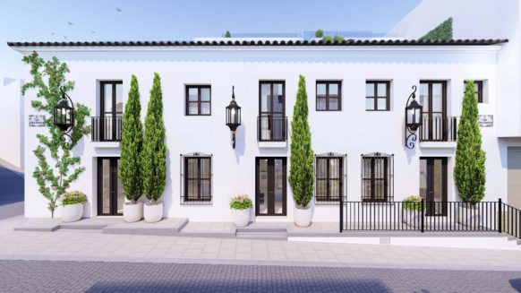 New 3 bedroom townhouse in Estepona town center with private plunge pool