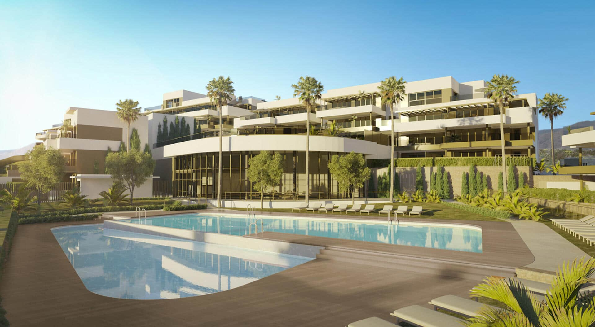 Las Mesas Homes One bedroom apartment with large terrace and great sea views in Estepona town