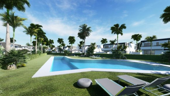New Corner 4 bedroom Family home on private plot in Oasis 22 Estepona on the New Golden Mile