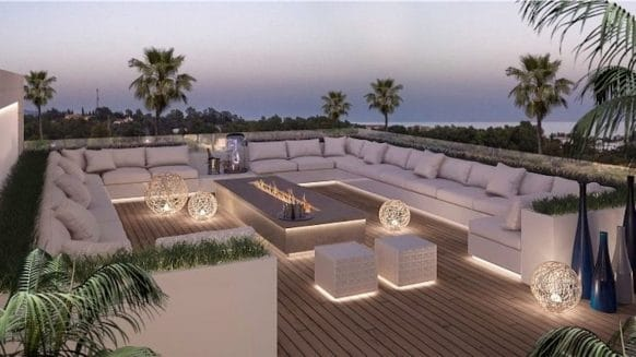 EPIC New Duplex Penthouse on Marbella Golden Mile with amazing roof terrace lounge