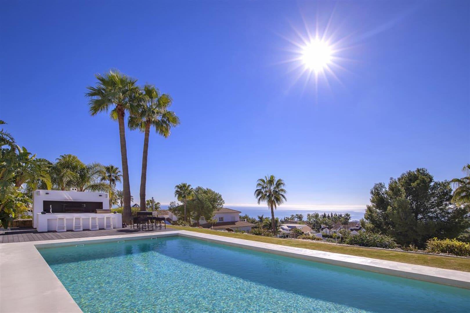 Modern villa in Sierra Blanca Marbella with sea views