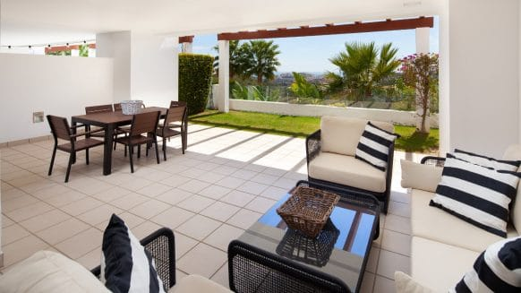 Ground floor apartment within Finca Cortesin golf resort Las Terrazas de Cortesin