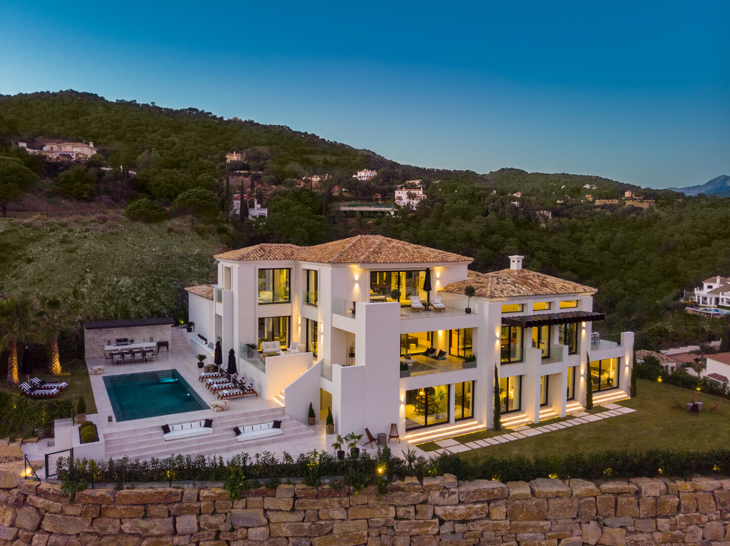 New modern El Madronal villa with amazing sea views