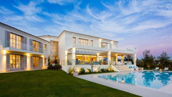 Contemporary villa front line golf in Aloha Nueva Andalucia, Marbella