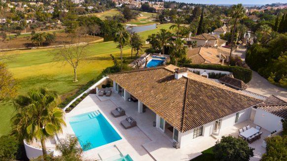 Contemporary Reformed Villa front line to the golf in Las Brisas, Nueva Andalucia Marbella