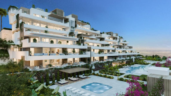 Alexia Life Estepona town 3 bedroom corner apartment with large terrace and open sea views