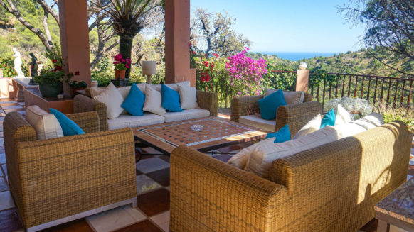 Luxury furnished villa in El Madronal Benahavis, with separte guest and staff housing at entrance two, close to all amenities