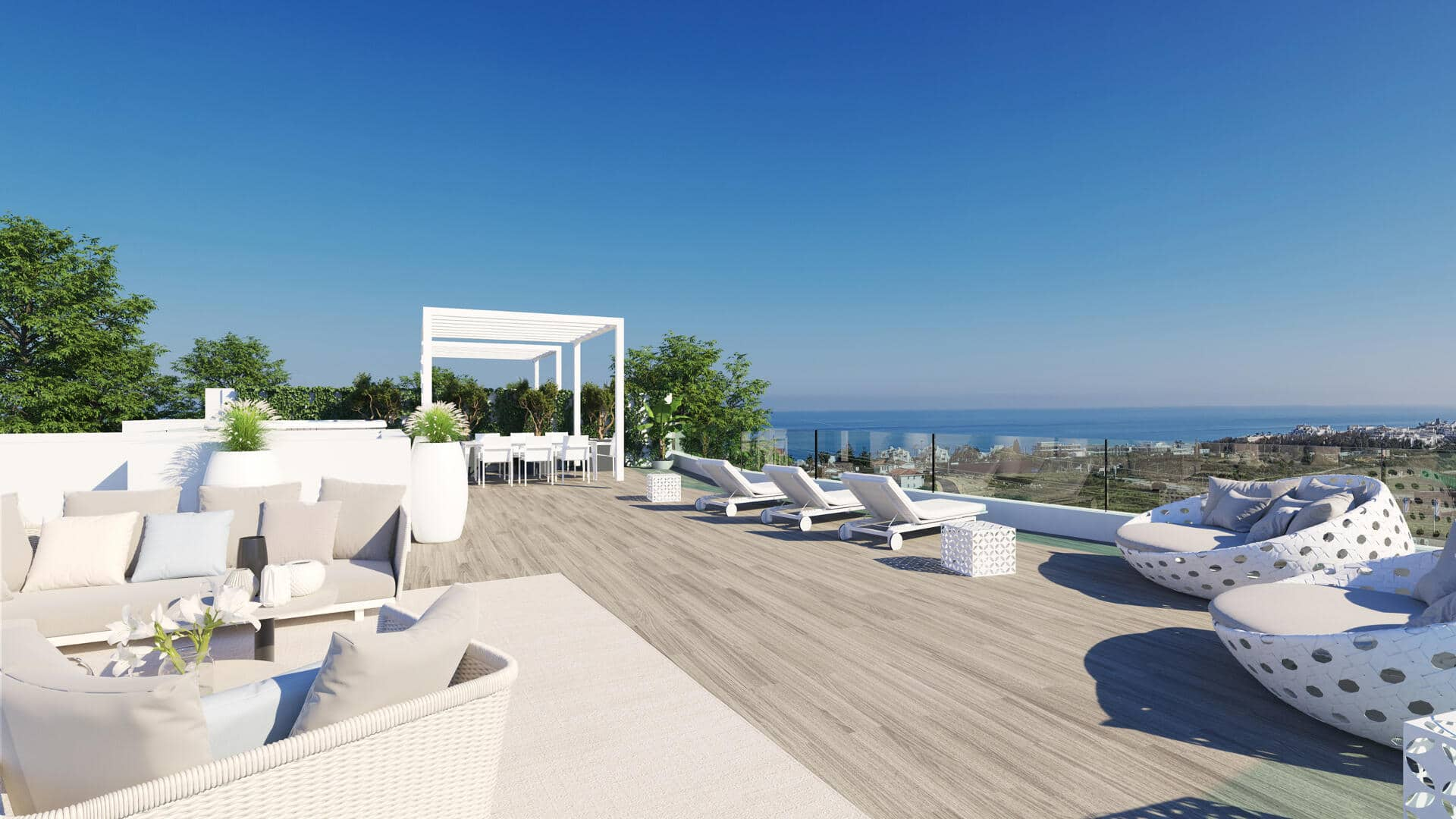 Sea view Estepona duplex penthouse with three bedrooms and large terrace in One 80 Residence