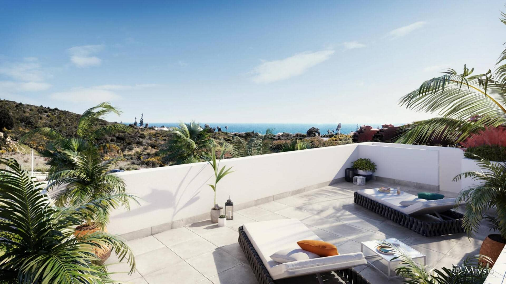 Serenity Collection Estepona 2 bedroom penthouse apartment with large terrace and amazing views