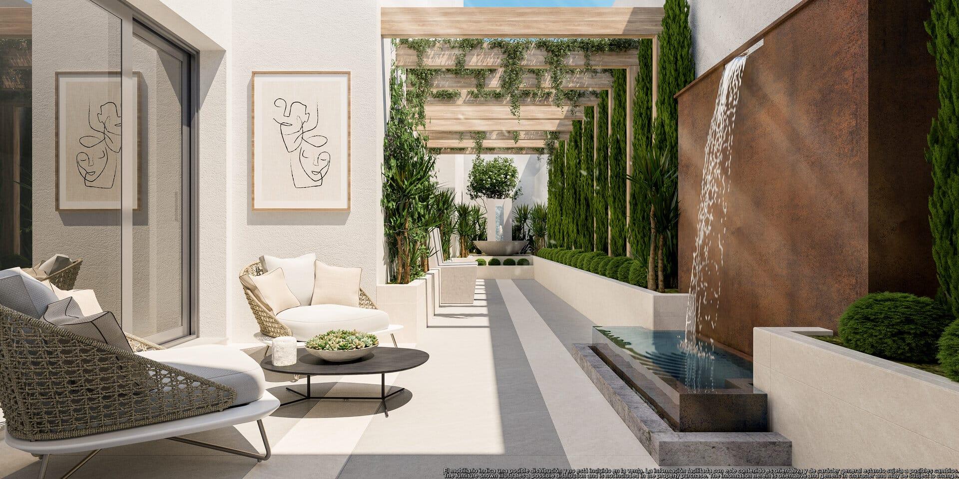 Quercus Real de la Quinta 3 bedroom corner apartment very private with open Sea and La Concha Mountain views