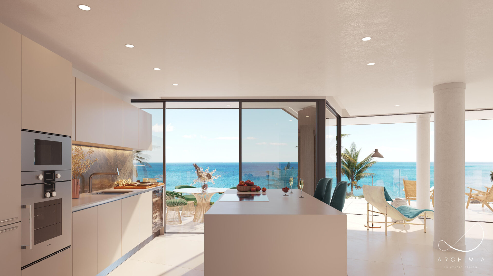 Front line beach apartment with large terrace in The Sapphire Estepona offering amazing panoramic sea views!