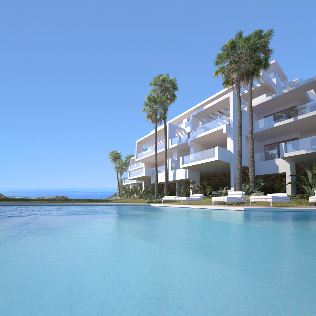 New key ready apartments or penthouse in Palo Alto Marbella, exceptional homes with facilities onsite and amazing sea views