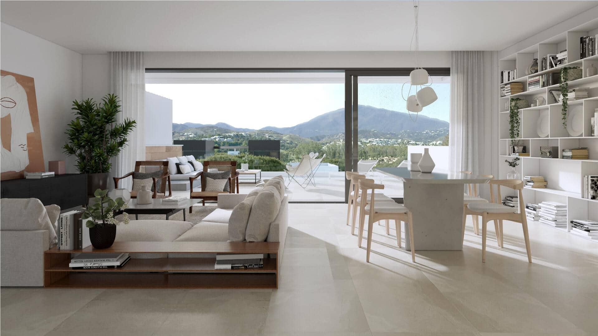 Serene Atalaya semi-detached villa with 3 bedrooms and solarium enjoying great open views towards the sea