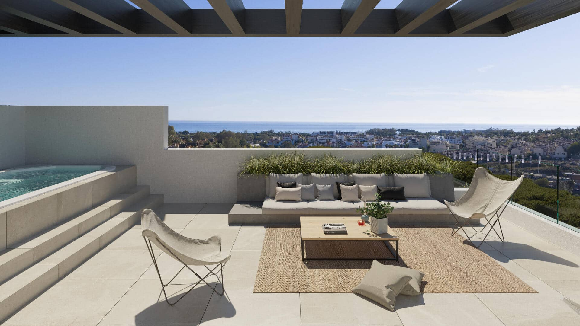Serene Atalaya villa 3 bedrooms semi-detached with and solarium and open views towards the sea from your home